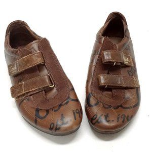 """Coach """"Gretel"""" Brown Leather Fashion Sneakers"""